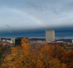 Rainbow over Binghamton 10.28.09