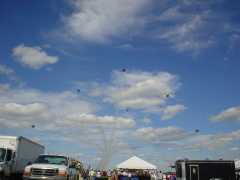 Blue Angels Wow Air Show Crowd