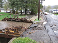 flood damage in Newark Valley