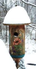 Winter Birdhouse Awaits Springtime Birds