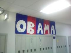 Students at Bainbridge Guilford support Barack Obama