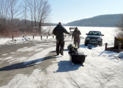 Ice Fishing at Long Pond 1/23/10