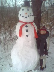 Aidan and his snowman