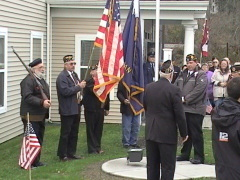 NBSC flagpole dedication & Veterans Day Ceremony 2007