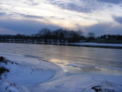 Late day look at the Ice on the Chenango