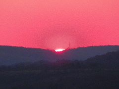 sunset over binghamton