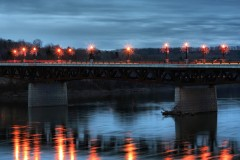 Owego's Court Street Bridge at night