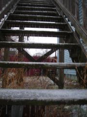 Icy stairs!