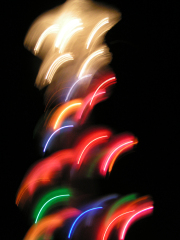 Abstract Christmas Tree Lights