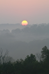 Hazy sunrise in Smithville...