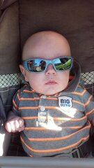 baby Ayden rockin' his sun glasses!