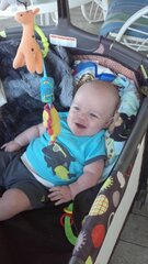 sunshine make's baby Ayden so happy!!