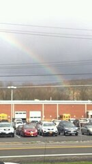 Rainbow  over Windsor bus garage 11/7