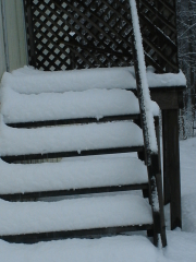 Snow on Backsteps