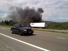 Tractor Trailer Fire On 81