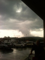 Funnel cloud shape after storm