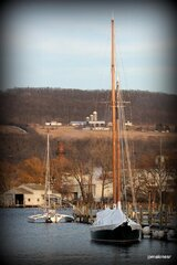 Two Sailboats moored at Watkins Glen