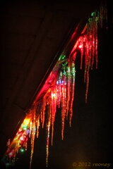 Icicyles + Christmas Lights = Beautiful