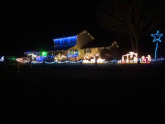 Christmas lights. Town of chenango