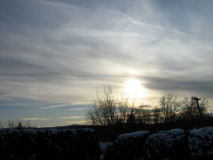 Cold New Year's Day Sky Over Endwell,NY
