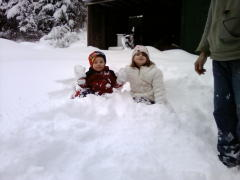 Hunter & Shawna out playing in the snow
