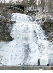 Montour Falls Decorated by Ice