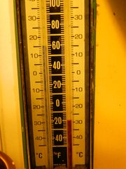 Negative numbers on the thermometer