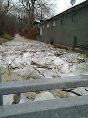 Ice jam on East side of Binghamton!