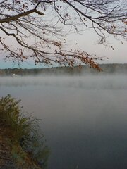 Autumn Morning on Guilford Lake