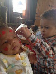 Big Brother decorates new Baby Brother
