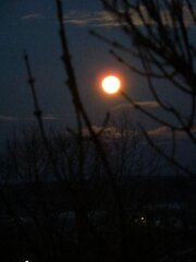Bright full moon.