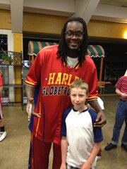 Lucas Casey with Globetrotter