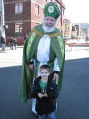 ST Patrick and Billy before the Parade