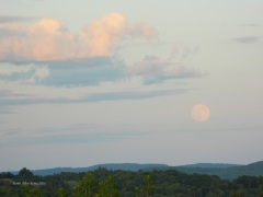 Full moon rising from Carpathian Hill