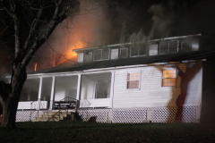 late night blaze keeps fire crews busy.