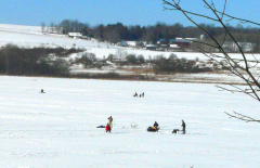Ice Fishing Cincinnatus Lake 1/23/10