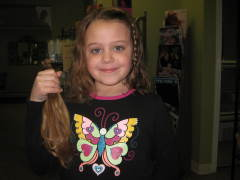 Colleen, 7, donates to Locks of Love!