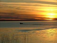 Sunset on Pelican Lake Manitoba
