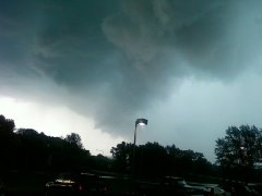 Storm Clouds Surround Dunkin Donuts