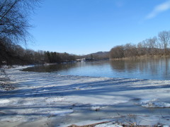 The Ice on the River is Nearly Gone!