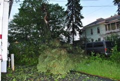 Northside storm damage