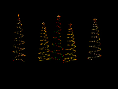 Spiral Christmas Tree Lights