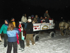 Christmas Horse and Wagon Ride