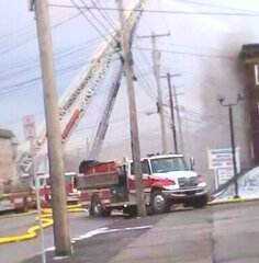 Picture of the fire in Binghamton