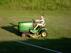 Driving the Johne Deere