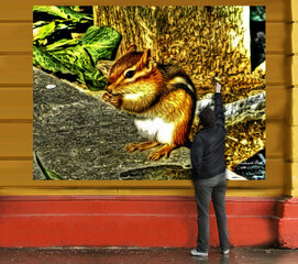 3-D Chipmunk- and normal view