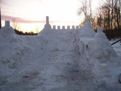 Snow Castle in Brisben
