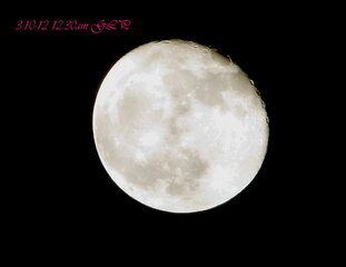 3-10-2012. Moon just after Midnight!