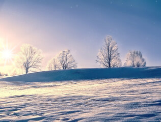 Frosty Snowy Sunrise in Tioga County, PA