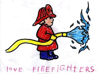 5 Yr Old Supports Owego Fire Department